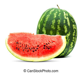 Watermelon - Big red watermelon isolated on white background