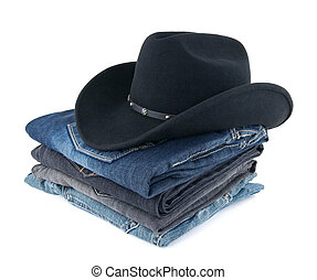Cowboy hat and jeans for a man - Mens clothing - cowboy hat...