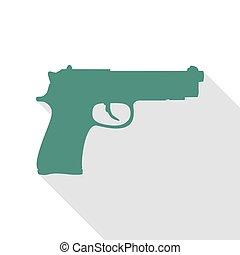 plano, estilo, Ilustración, arma de fuego, señal, veridian,...