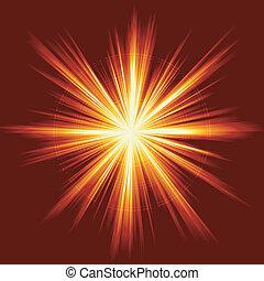 Light burst, fireworks, lens flare