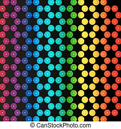 Chemistry pattern, hexagonal design molecule structure, scientific or medical DNA research. Medicine, science and technology concept. Geometric abstract colorful background.