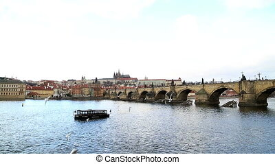 Charles bridge and Vltava river in Prague - Beautiful Prague...