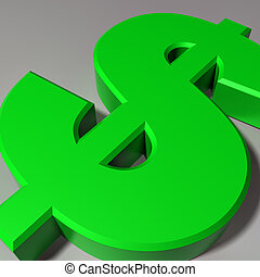 Dollar Symbol - Close up view of a Dollar currency symbol