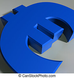 Euro Symbol - Close up view of a Euro currency symbol