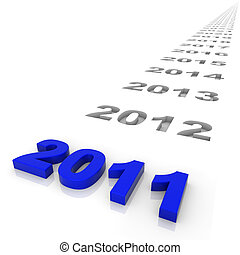 Year 2011 - New year 2011 and the years ahead. Part of a...