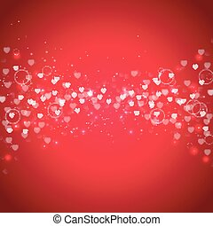 Valentine's day special offer on red glitter background