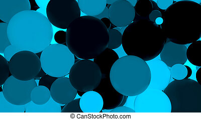 Fluorescent luminous blue balls - Abstract background....