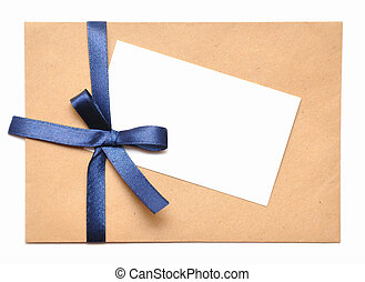envelope with white background for christmas cards