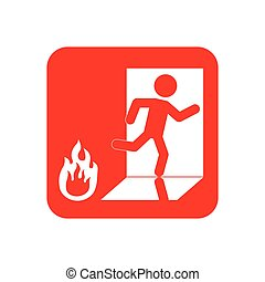 Fire emergency sign icon vector illustration graphic design