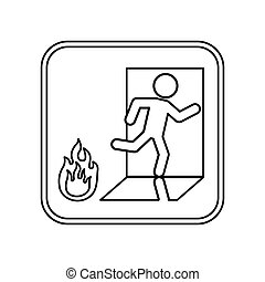 Fire emergency sign