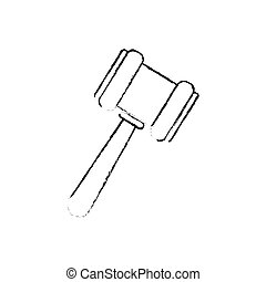 Justice gavel isolated icon vector illustration graphic...
