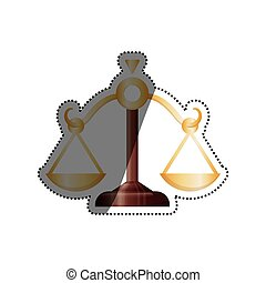 Justice balance isolated icon vector illustration graphic...