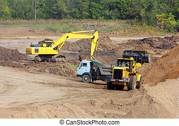 sandpit - loader and tipper - sandpit - loader dump tipper...