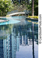 Pool in the tropical resort - Beautiful view of Infinity...