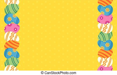 Illustration vector of greeting card easter
