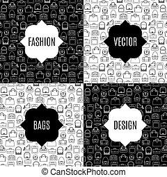 Fashion bags pattern card set