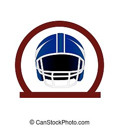 circular frame with american football helmet