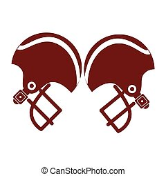pair of american football helmet
