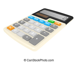 Office calculator isolated on a white background