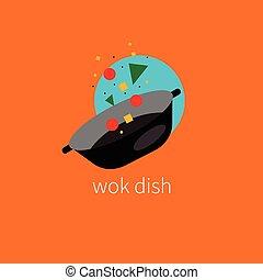 Logo dishes wok