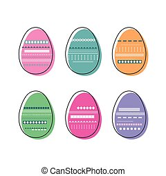 Colorful decorated Easter - Colorfu decorated Easter eggs...