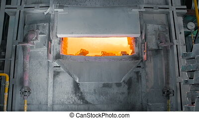 Metal Smelting Furnace In Steel Mills. Industrial