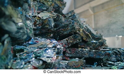 Piles Of Metal Scrap. Industrial