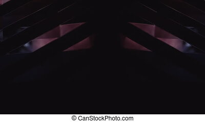 Abstract Violet Light On Reflective Surface - Abstract Light...