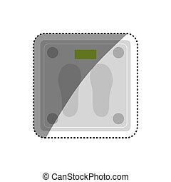 Body weight scale icon vector illustration graphic design