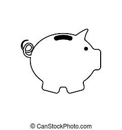 Piggy saving money icon vector illustration graphic design