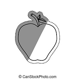 Delicious apple fruit icon vector illustration graphic...