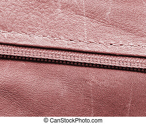 high detailed red leather texture,zipper,stitches