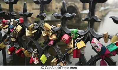 Love Symbol Padlock - Love- locks Charles Bridge and Prague...