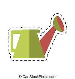 cartoon water can gardering vector illustration eps 10