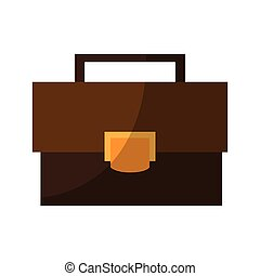 business briefcase icon over white background. colorful...