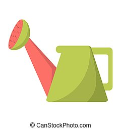 water can gardering floral vector illustration eps 10
