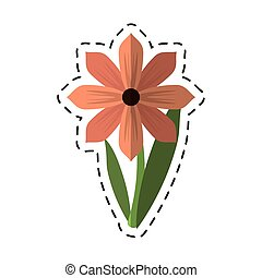 cartoon gerbera flower spring ornament vector illustration...