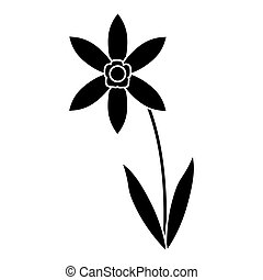 lily petal natural style pictogram