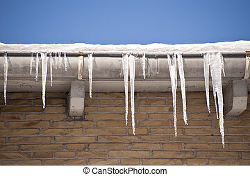 icicles - bizarre icicles in cold winter