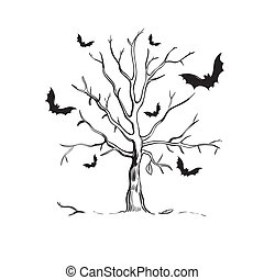 Halloween Sketch Concept - Halloween sketch concept with...