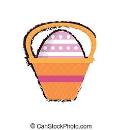 easter basket egg decorative