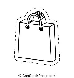 package shopping handle cut line vector illustration eps 10