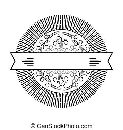 round scroll decorative frame banner ribbon