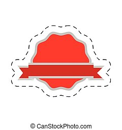 red badge ribbon sticker
