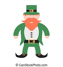 st patricks day leprechaun traditional icon