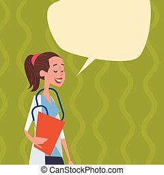 Medial Doctor Chat Bubble Social Network Communication...