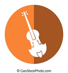 fiddle classical music instrument shadow vector illustration...