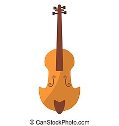 fiddle classical music instrument vector illustration eps 10