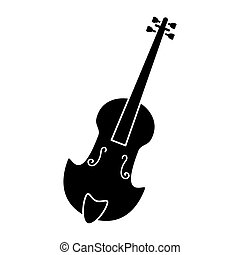 fiddle classical music instrument pictogram vector...
