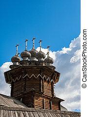 Kizhi Transfiguration Church, a wooden dome -...